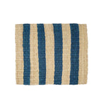 Striped Fique Placemat Set - Blue