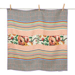 Mixed Print Silk Scarf