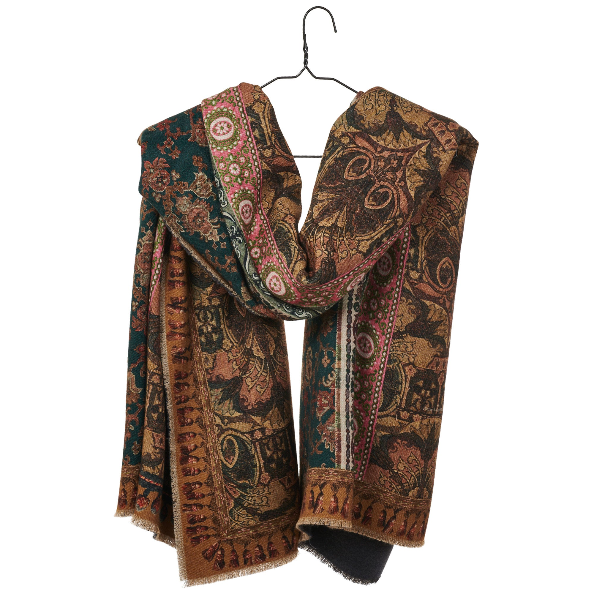 Mixed Print Wool Scarf