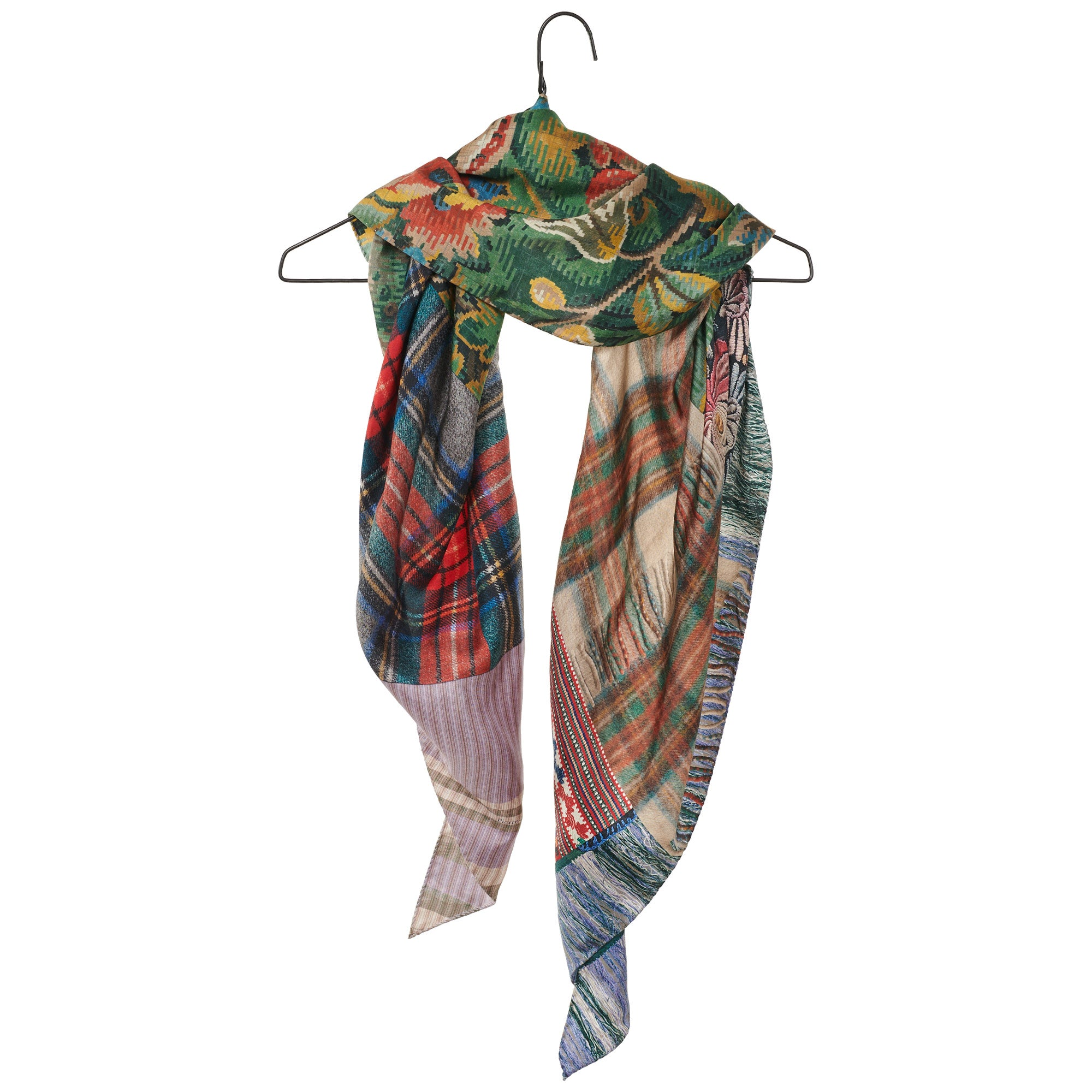 Mixed Print Diamond Scarf