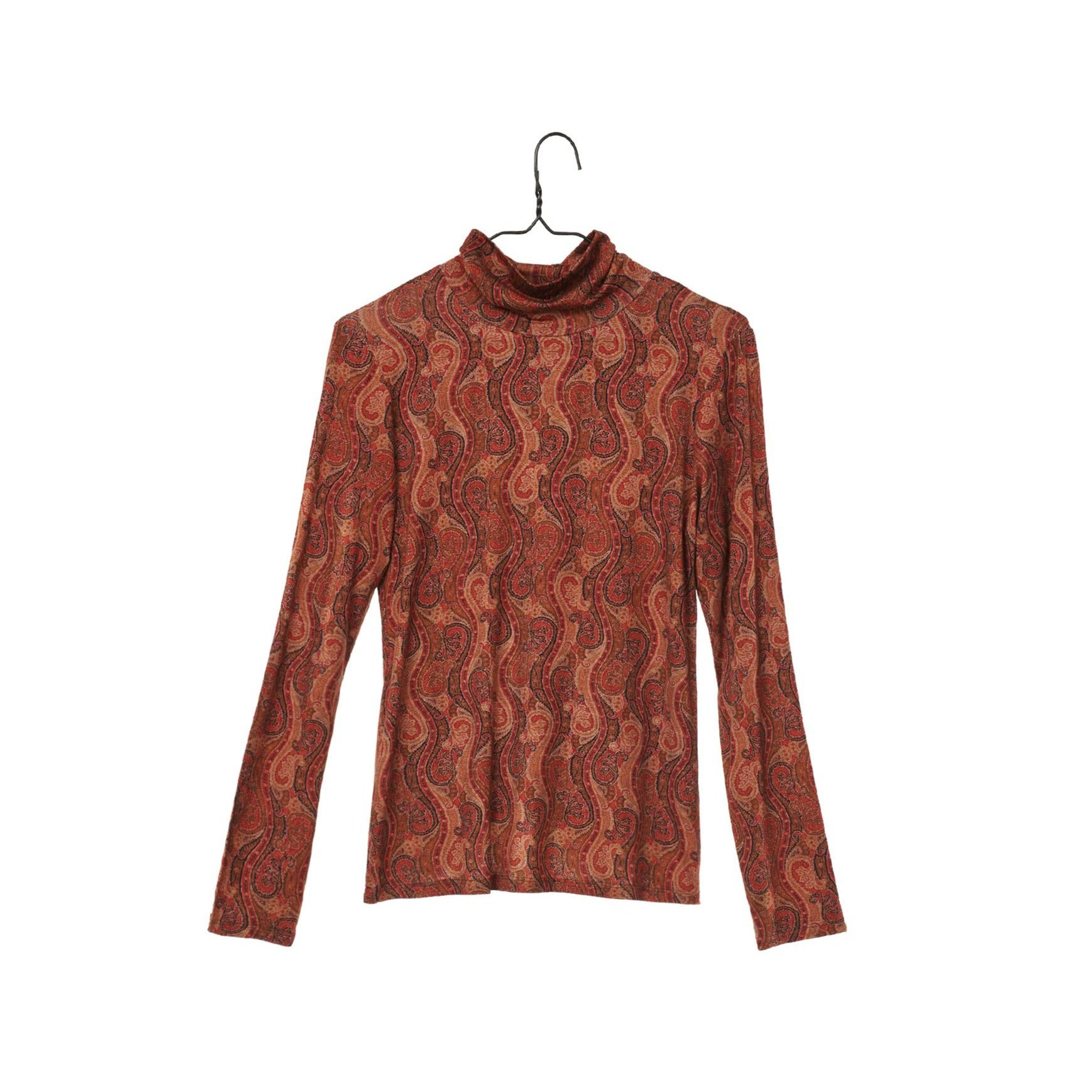 Paisley Print Turtleneck
