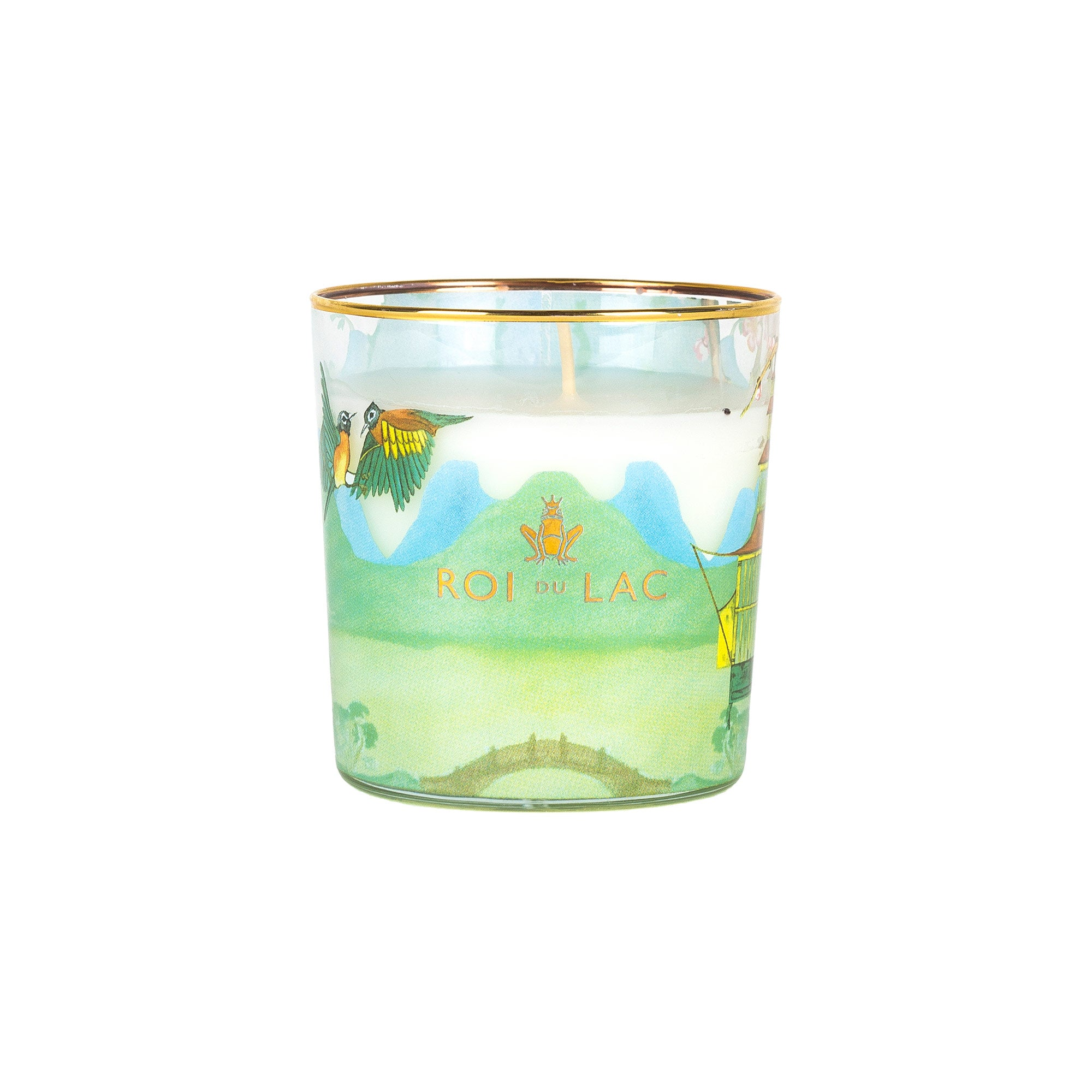 Painted Glass Candle