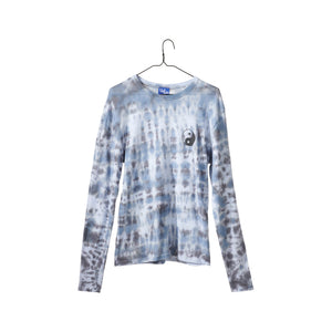 Yin Yang Tie-Dye Top - Blue/Grey