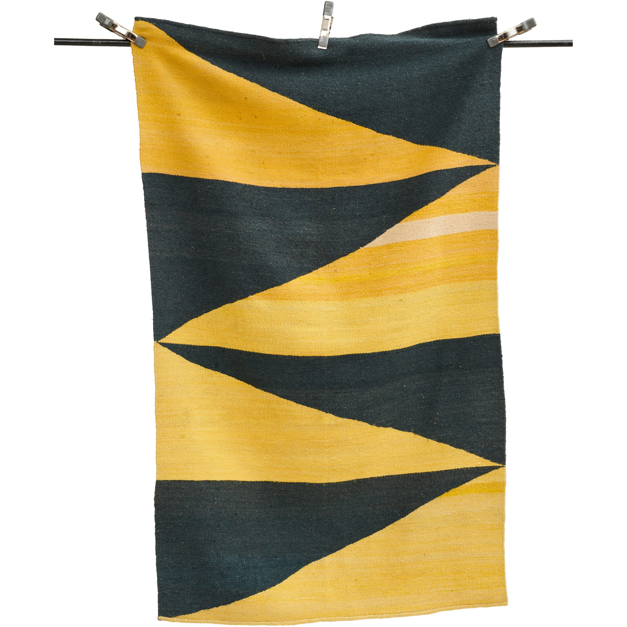 Yellow & Black Striped Rug