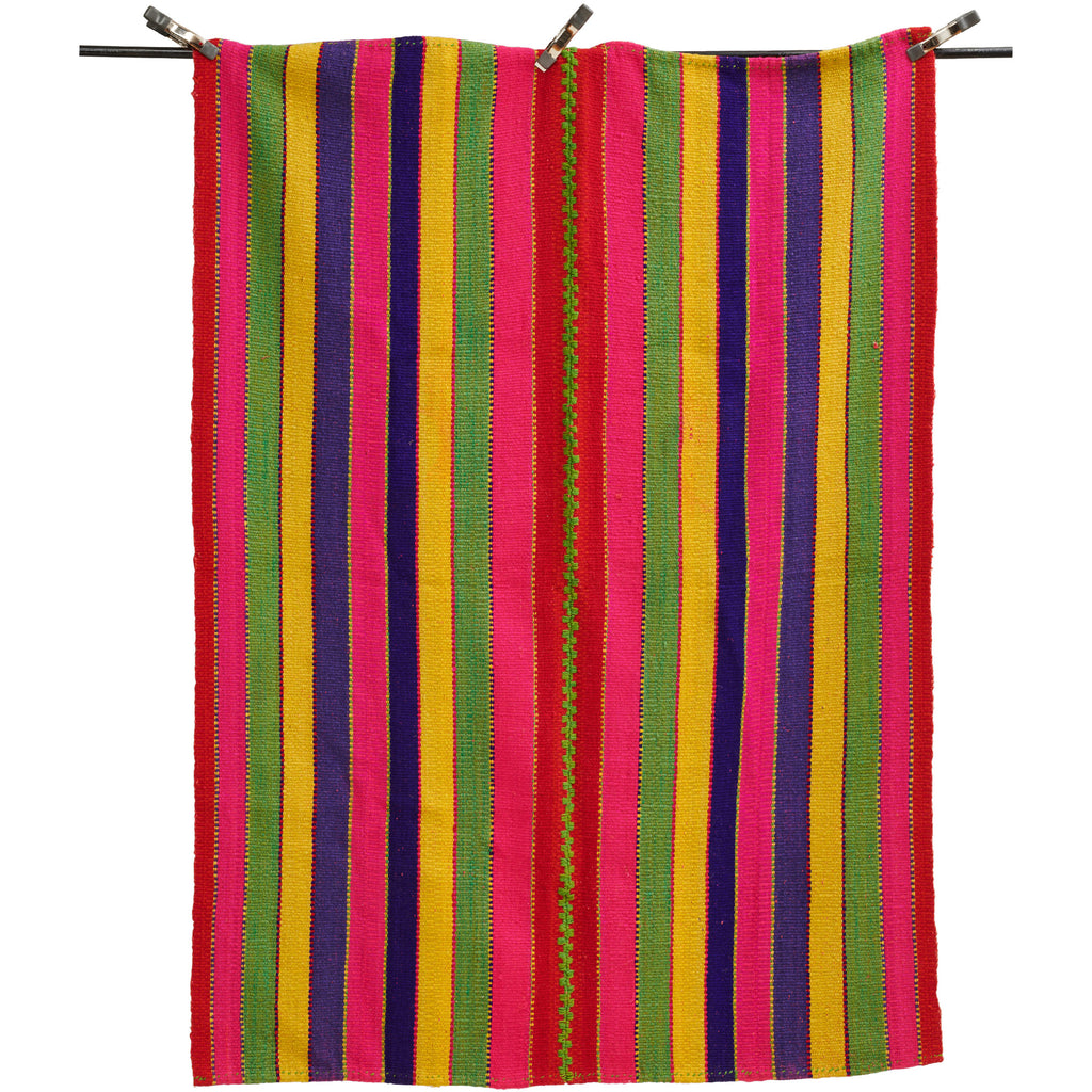 Multi-Colored Striped Rug