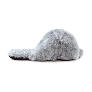Criss Cross Fur Slipper