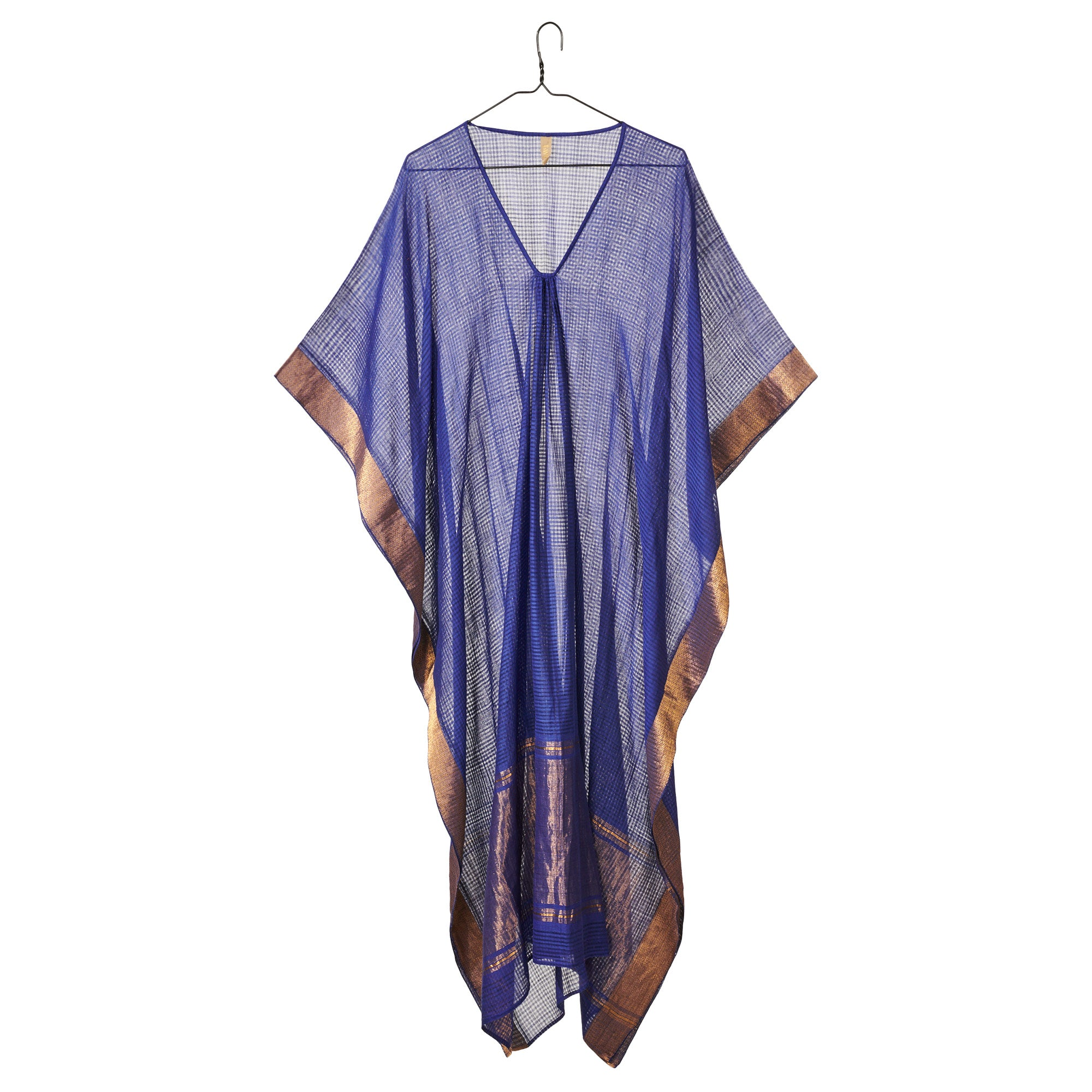 Blue Metallic Caftan