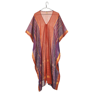 Rust and Gold Metallic Caftan