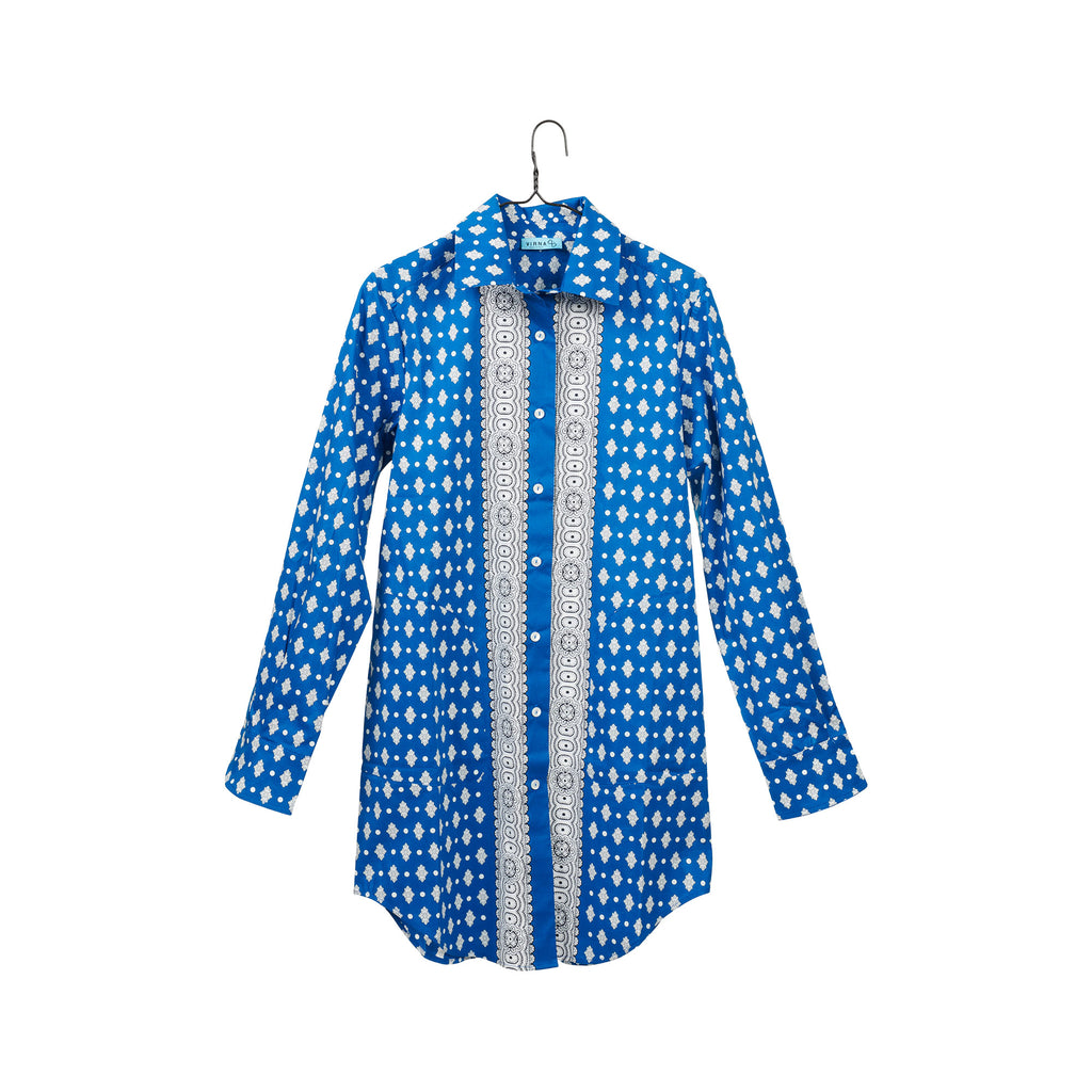 Elba Blue Shirtdress
