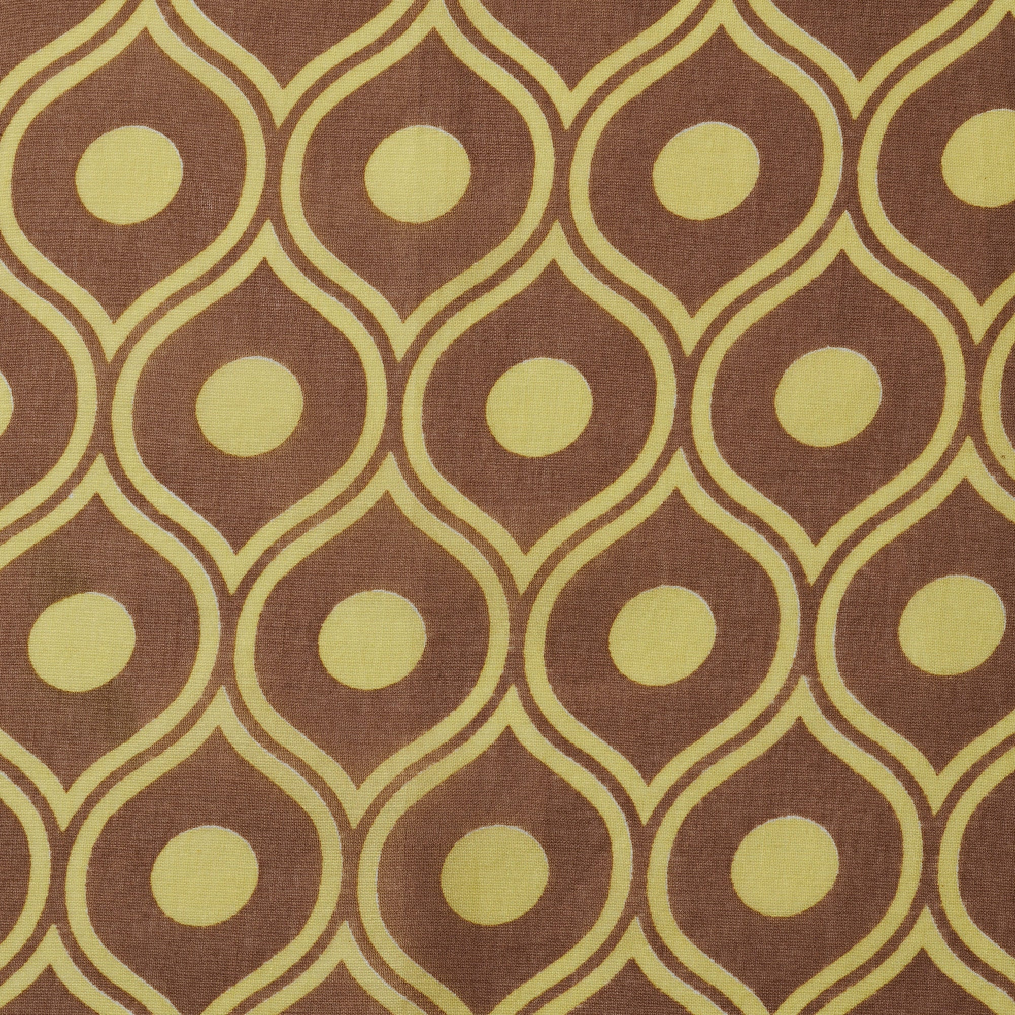 Eye Repeat Bandana - Chestnut Yellow