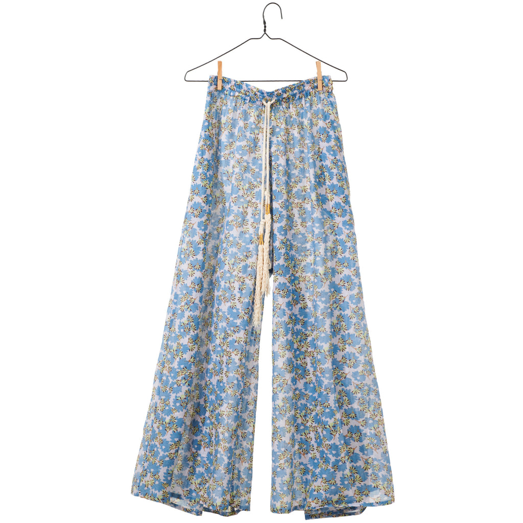 Floral Palazzo Pant - Taupe