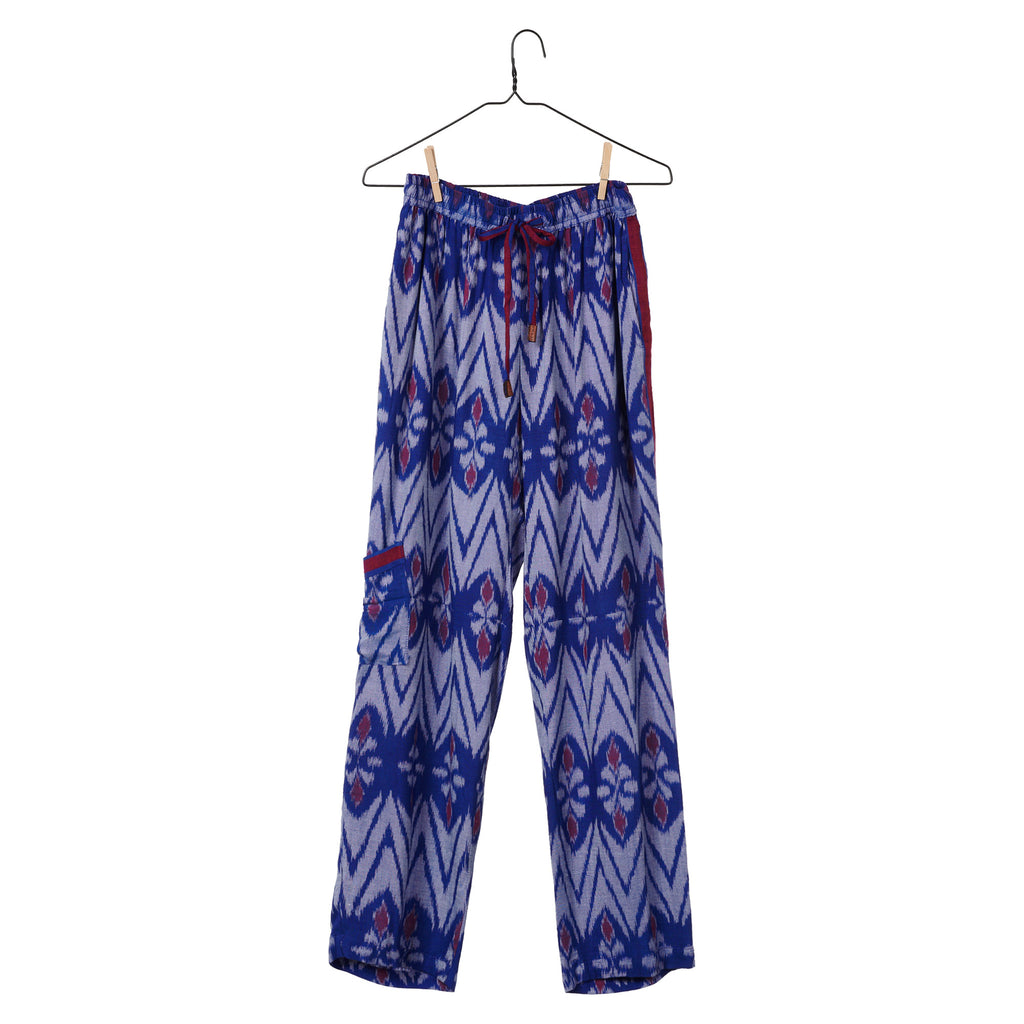 Ikat Pant - Electrical Blue