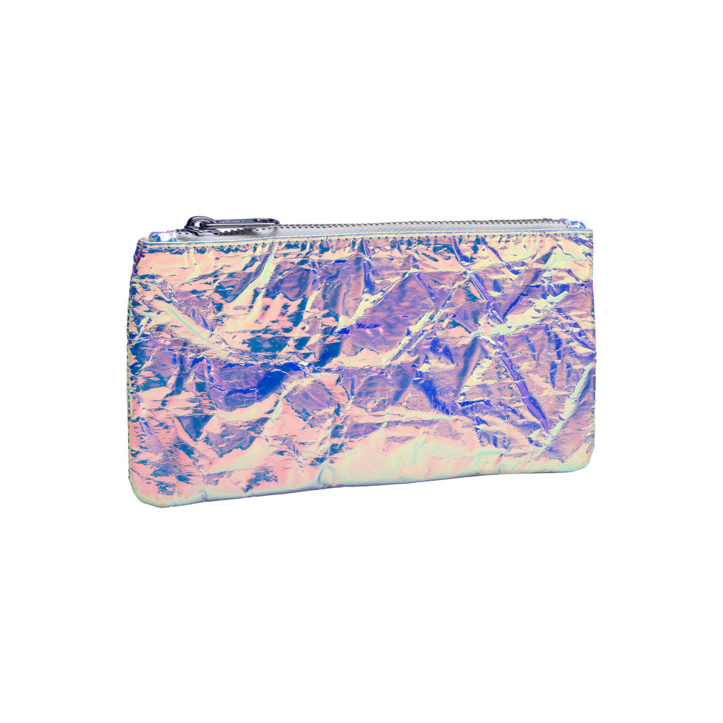 Iridescent Foil Pouch - Pink