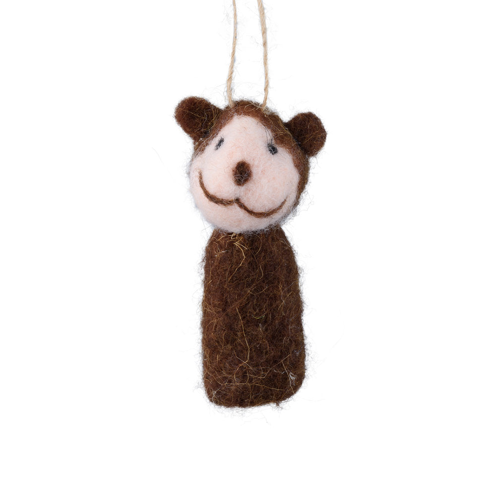 Monkey Finger Puppet Ornament
