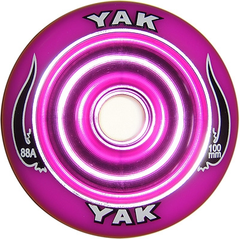 Yak Scat 100mm Metal Core Wheels Purple