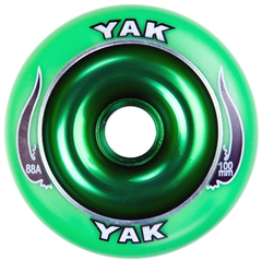 Yak Scat 100mm Metal Core Wheels Green
