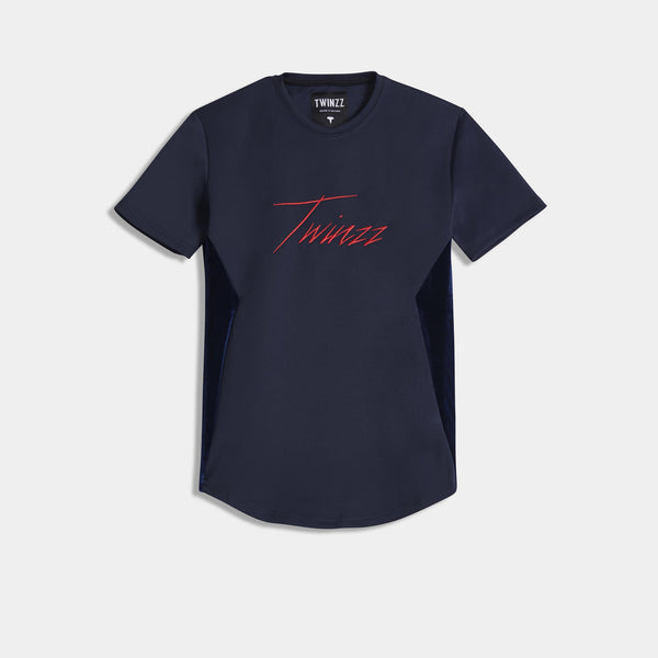 ALBERT TEE - NAVY/RED