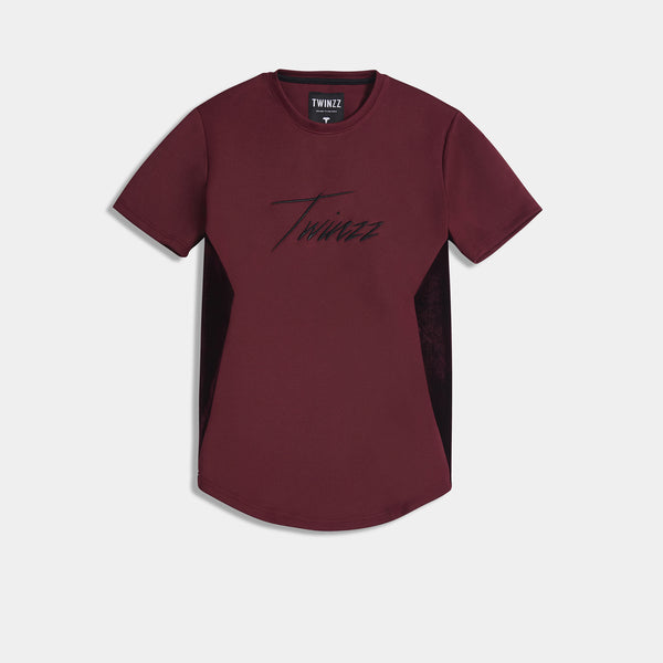 ALBERT TEE - BURGUNDY/BLACK