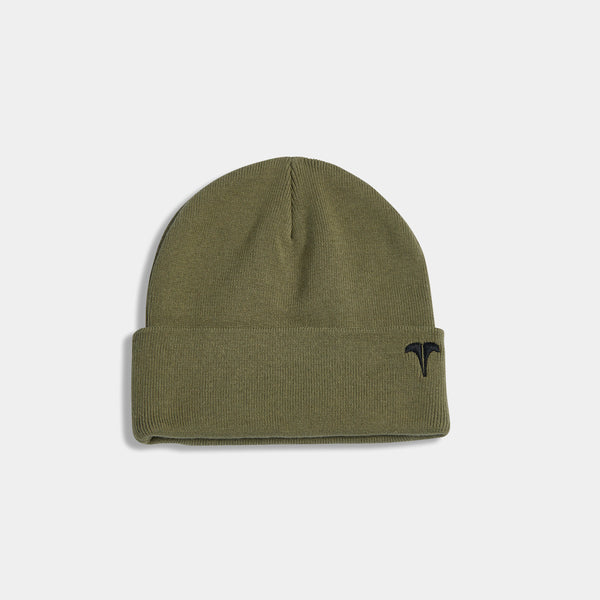 UBER EMBRO KNITTED BEANIE - OLIVE/BLACK