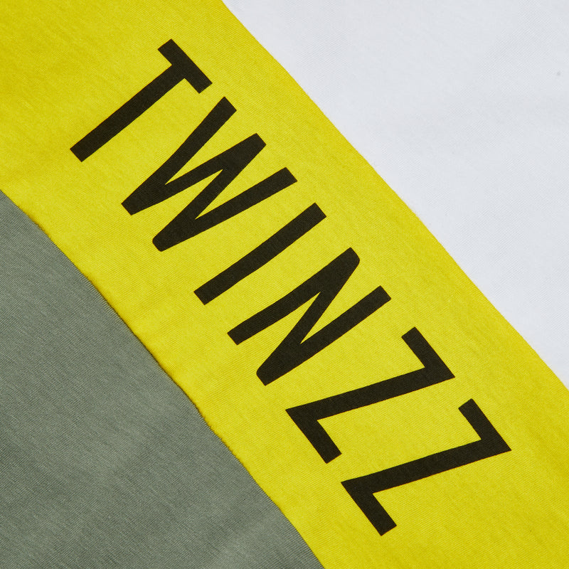 NELSON TEE - KHAKI/WHITE/YELLOW
