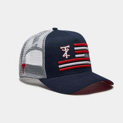 TZ Flag Trucker Navy/White/Red