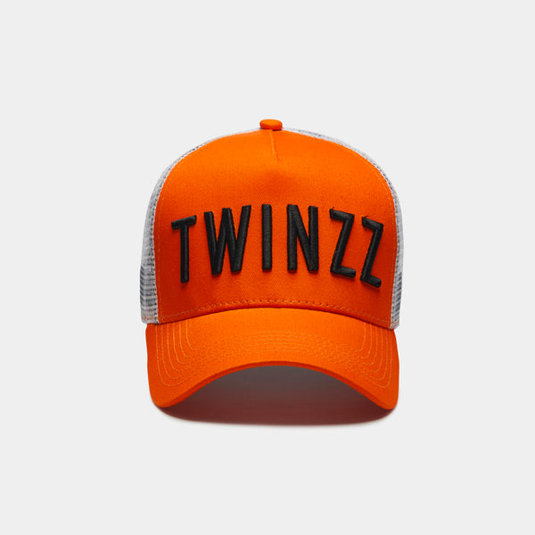 3D Mesh Trucker - Orange / Black / White