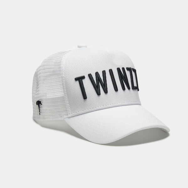 3D Mesh Trucker - White/Black