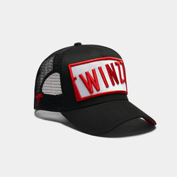 Azzurro Trucker - Black/White/Red