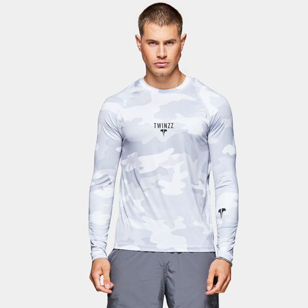 TWINZZ PRO Long sleeve Skin - Grey/Camo