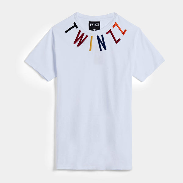 Warm-up Tee - White/Multi