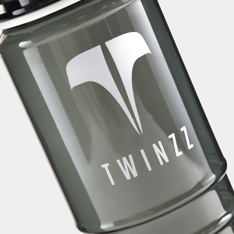 TWINZZ Active Sustainable Drinks Bottle - Black Clear