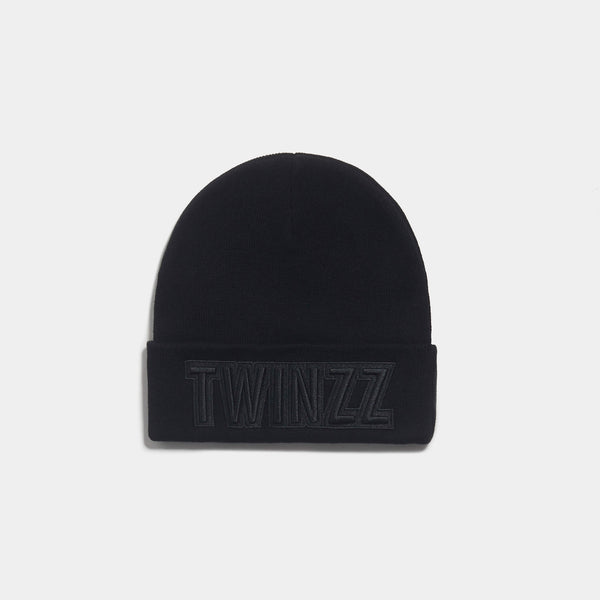 UBER EMBRO KNITTED BEANIE - BLACK