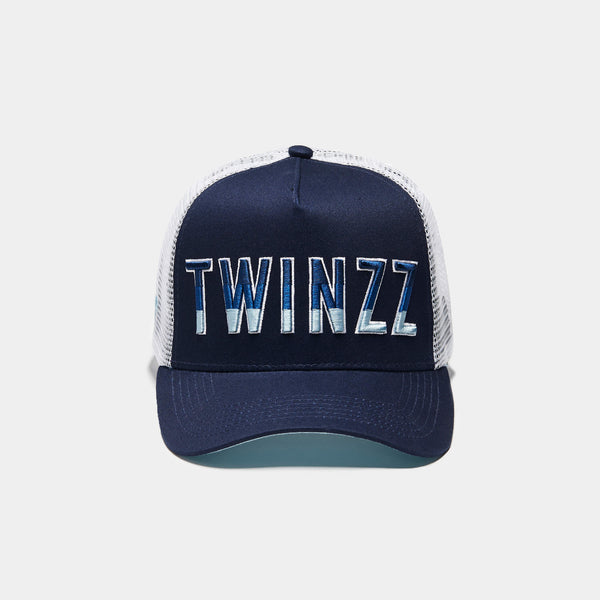 Gradient Trucker Navy/White/Baby Blue
