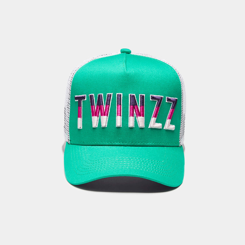 Gradient Trucker Forest Green/White/Purple