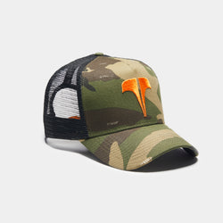 Rockland T trucker - Camo / Orange