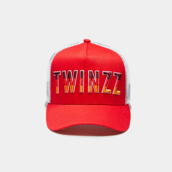 Gradient Trucker Red/White/Orange