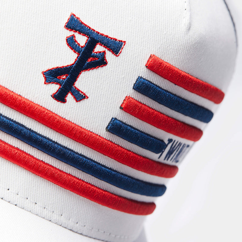 TZ Flag Trucker White/Navy/Red