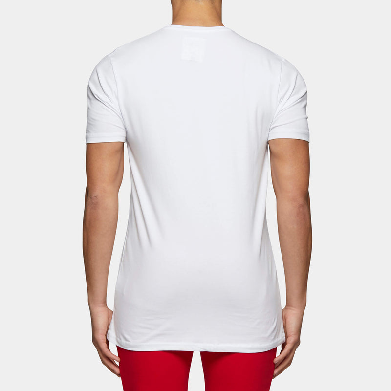 VINCENT SS TEE WHT