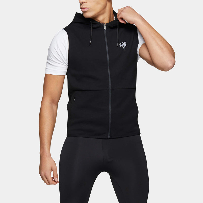 BASE SLEEVELESS FULL ZIP HOOD
