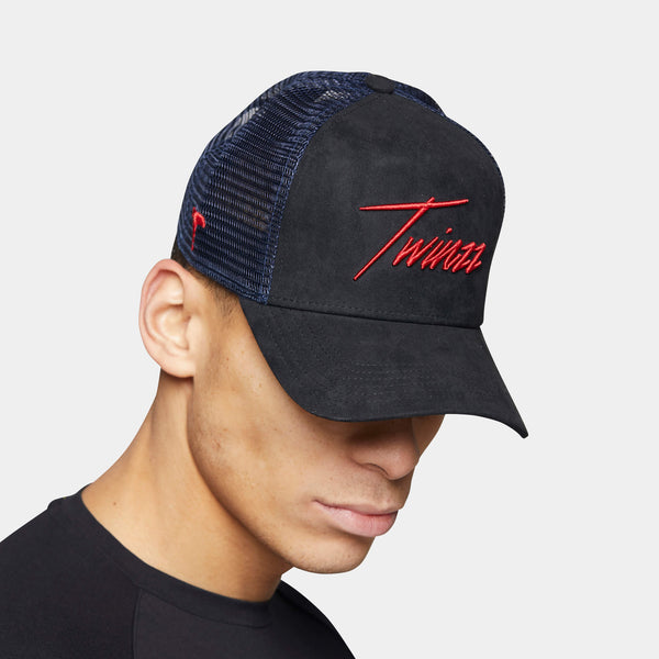 Lightning Suede Trucker - Blue/Black/Red