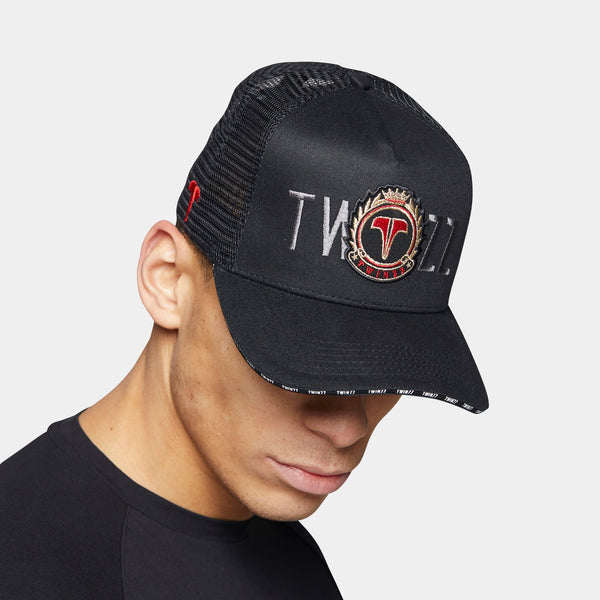 Laurel Trucker - Black/Red/Silver