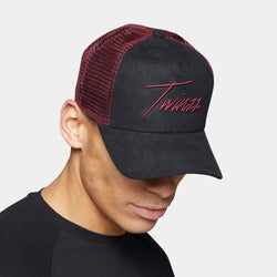 Lightning Suede Trucker - Red/Black