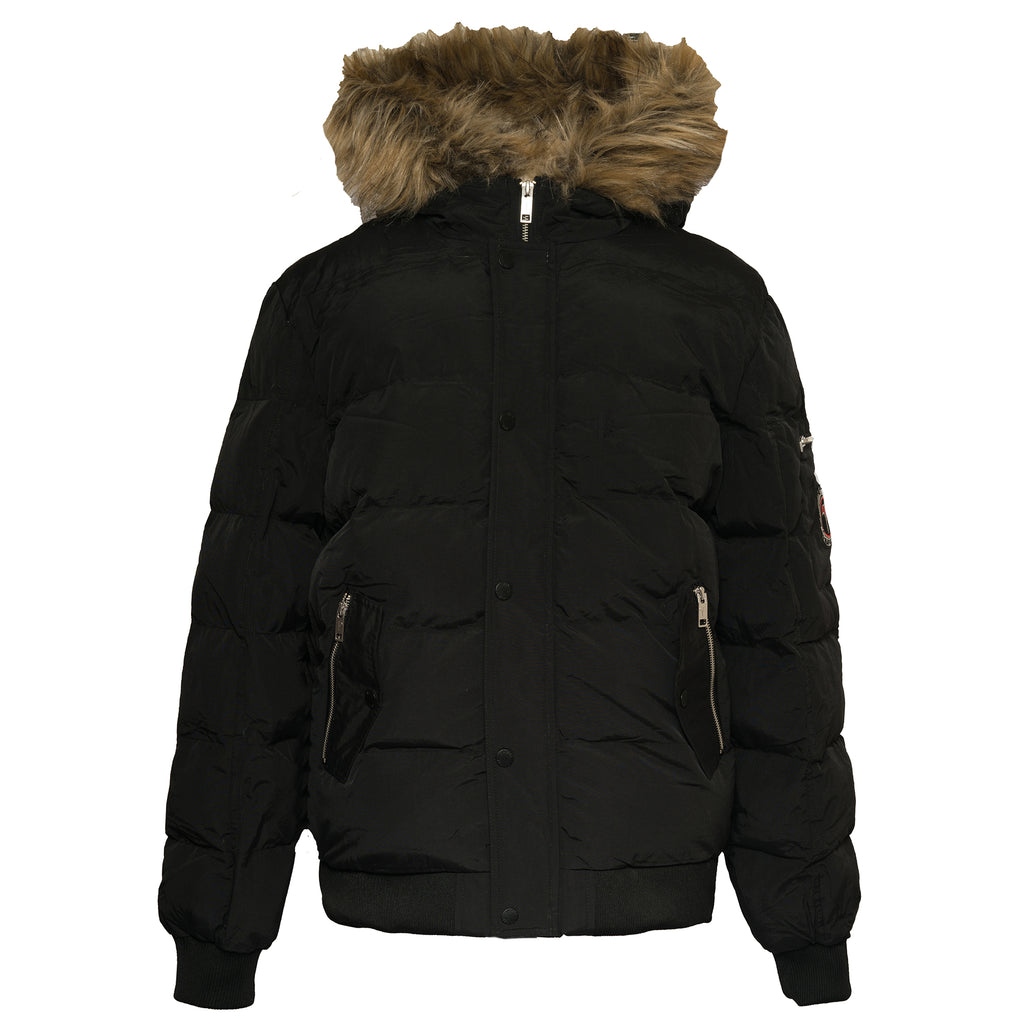 FUR LINED BOMBER