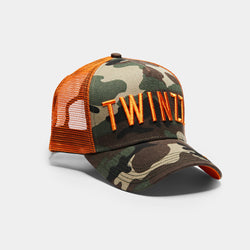 3D Mesh Back Trucker - Camo / Orange