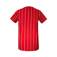 Red Virgili Stripe SS Tee