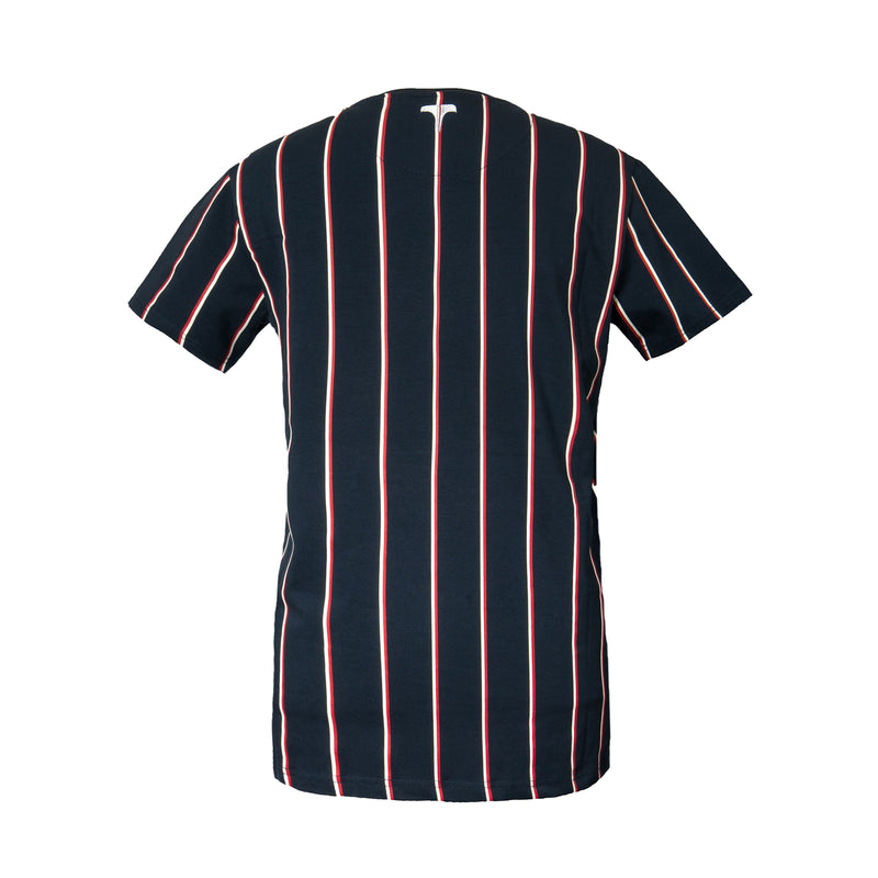 Navy Virgili Stripe SS Tee