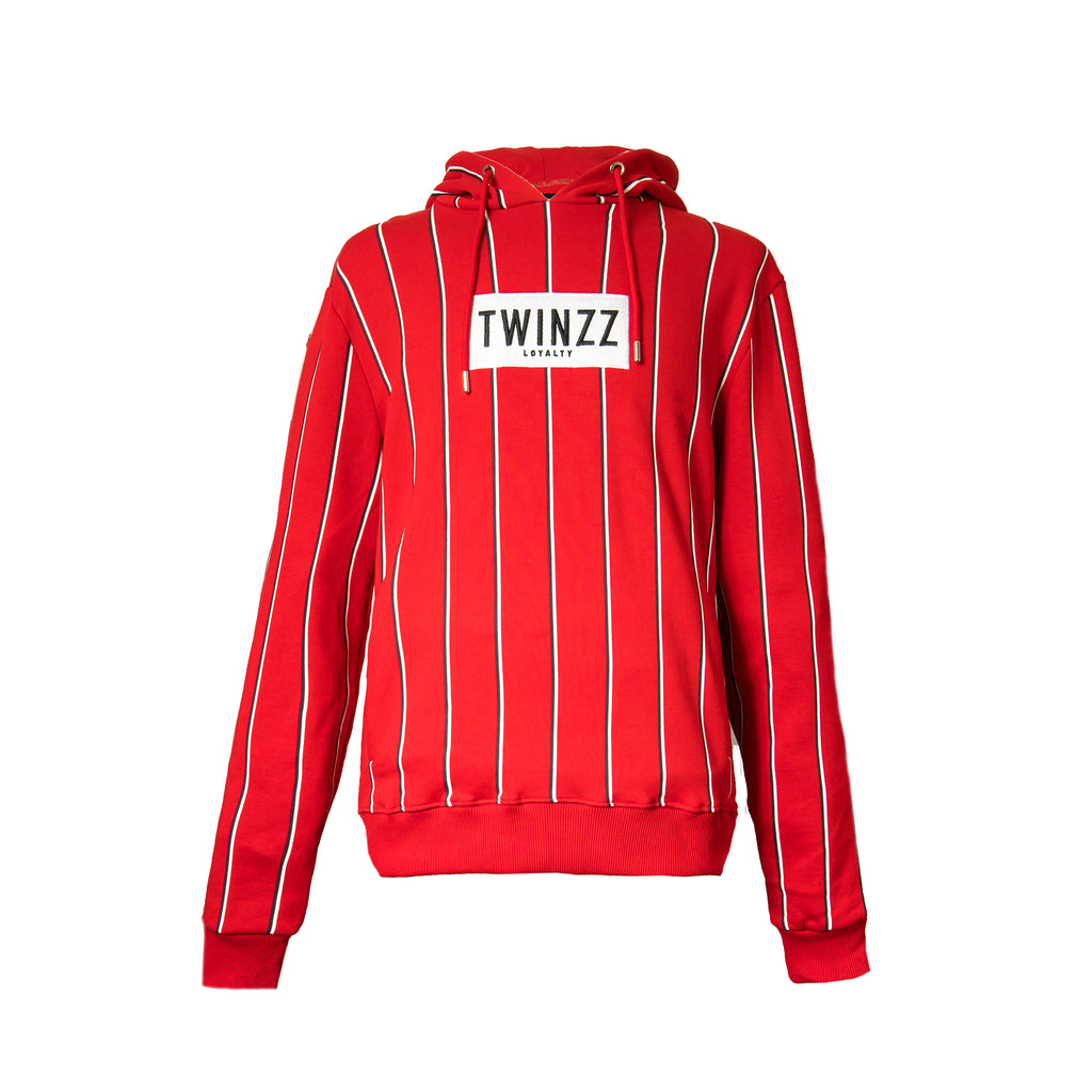 Red Virgilli Stripe Oth Hood