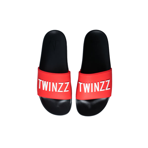 Positano Slides Red/White