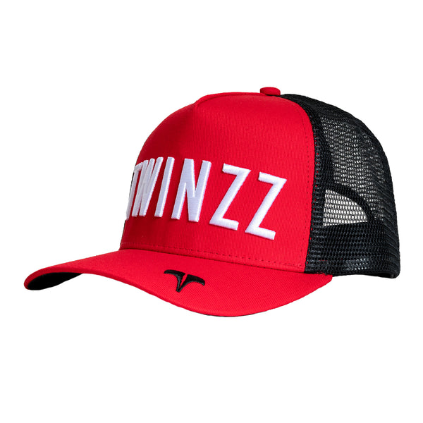 CORE TRI-COLOUR TRUCKER - Red/Black/White