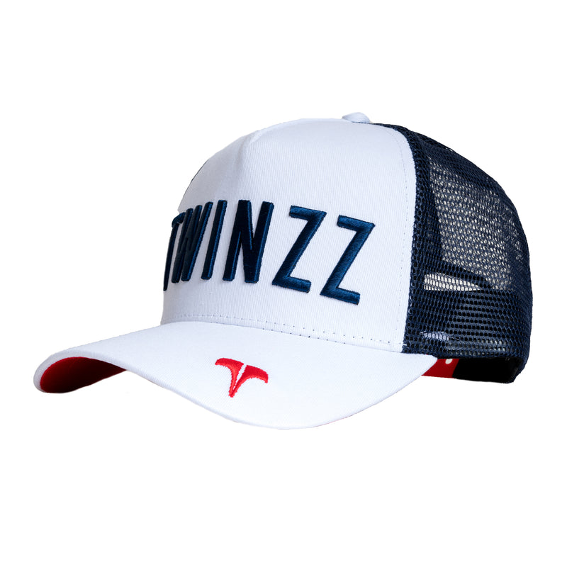CORE TRI-COLOUR TRUCKER - White/Navy/Red